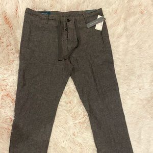 🔥🔥 Men's Perry Ellis Linen Trousers Gray 32 X 30